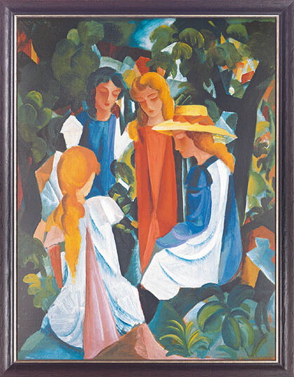 "August Macke: Painting ""Four Girls"" (1912/13)"