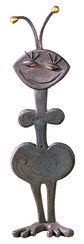 "Skulptur ""Emilia"", Kupfer mit Blattgold"