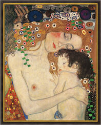 "Painting ""Mother and Child"" (1905), Framed"