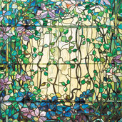 'Stained Glass with Clematis'