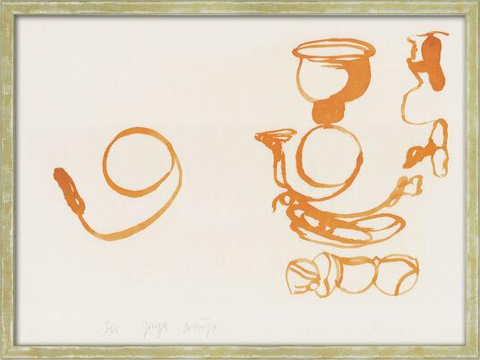 """Joseph Beuys: Bild """"Aus dem Leben der Biene"""" (1978), gerahmt"""