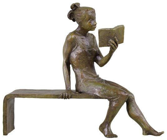 """Jürgen Ebert: Skulptur """"Besinnung"""", Bronze"""