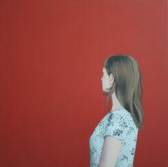 """Bild """"Mädchen in Rot"""" (2013) (Unikat)"""