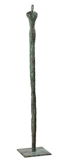 "Rosa Gillissen: Sculpture ""Column Man"" (large, height 101 cm), bronze"