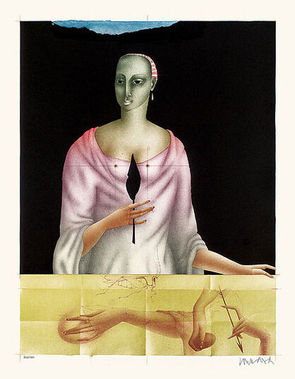 "Paul Wunderlich: Picture  ""Aglaia"" - from the Graphic Sequence  ""Three Graces"""