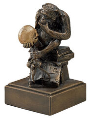 "Sculpture ""Monkey with Skull"" (1892-93), Version in cold cast bronze"