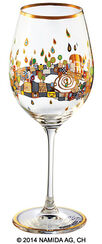 "(PM XIX/2) Wine glass ""BEAUTY IS A PANACEA - Gold - red wine"""
