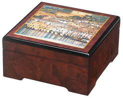 "Musical jewelry box ""Malcesine"" - after Gustav Klimt"