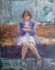 """Bild """"Mädchen mit Buch"""" (2016) (Unikat)"""