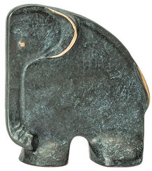 "Sculpture / Bookend ""Elephant"", Bronze"