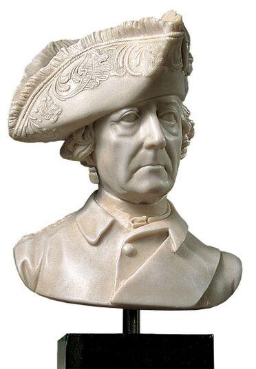 """Johann Gottfried Schadow: Art casting bust """"King Frederick II."""""""