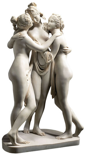 "Antonio Canova: Sculpture ""The Three Graces"" (1813-1816), reduction in artificial marble"