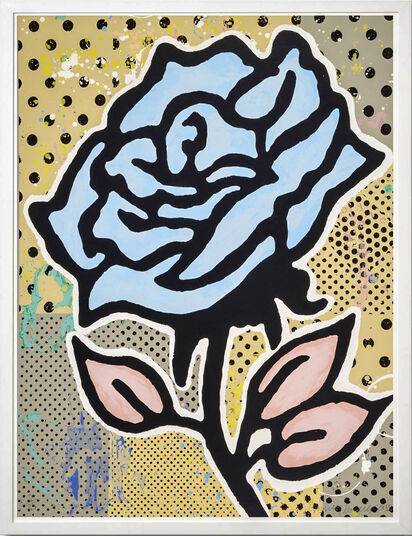 "Donald Baechler: Bild ""Blue Rose"" (2015)"