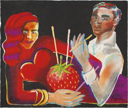 "Elvira Bach: Bild ""Coeur Rouge"" (2010)"