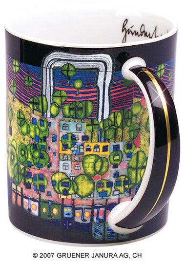 "Friedensreich Hundertwasser: Magic Mug ""La troisième peau"", Porzellan"