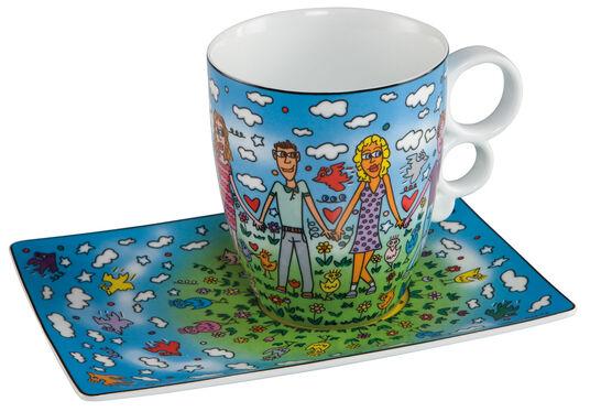 """James Rizzi: Kaffeetasse """"Friends"""", Porzellan"""