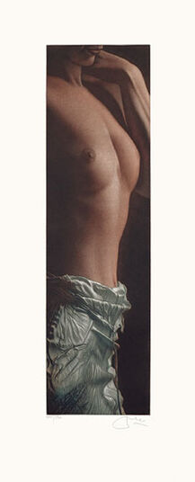"""Willi Kissmer: Bild """"Schlanker Halbakt"""" (1999), ungerahmt"""