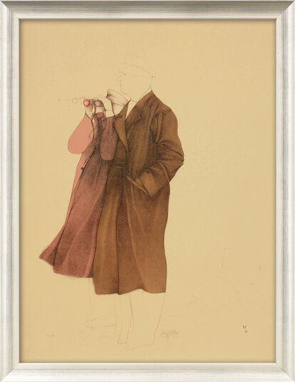 "Bruno Bruni: Bild ""Osservatori"" (1981), gerahmt"