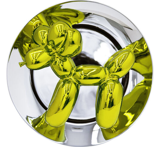 """Jeff Koons: Skulptur """"Yellow Balloon Dog"""" (2015)"""