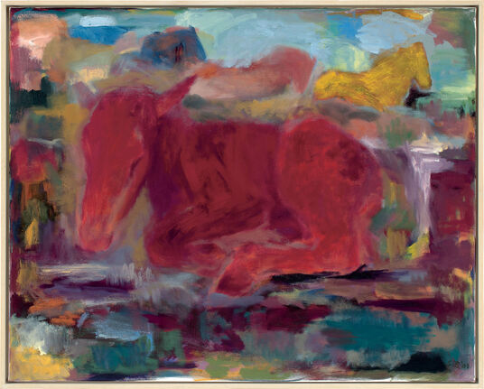 "Silke Bergener: Bild ""Herdentraum"" (2009) (Original / Unikat), gerahmt"