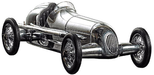 "Model car ""Silver Arrow"""