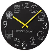 "Wanduhr ""History of Art"""