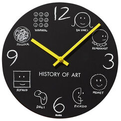 "Wanduhr ""History of Art"""