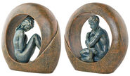 "Set of two sculptures ""Venus"" and ""Saturn"""