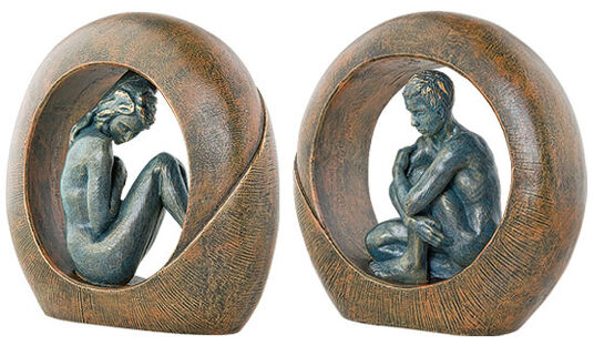 "Angeles Anglada: Set of two sculptures ""Venus"" and ""Saturn"""