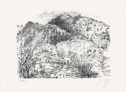 """Günter Grass: Bild """"Italienische Landschaft"""" (2009)"""