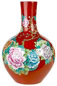 """Porzellanvase """"Wild Flower"""", rote Version"""