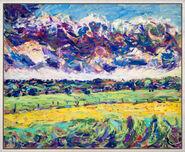 """Bild """"Wolken und Wiesen"""" (1984) (Unikat)"""