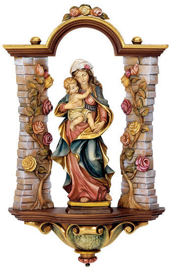 """Andreas Mussner: """"Rose Madonna with Rose niche"""""""
