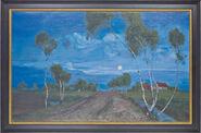 """Bild """"Abend im Moor"""", gerahmt"""