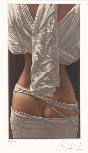 """Willi Kissmer: Bild """"Weißer Rückenakt"""" (2005), ungerahmt"""