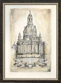 "Bild ""Dresdner Frauenkirche"", gerahmt"