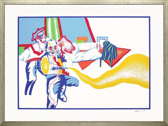 """Uwe Lausen: Bild """"Raumpatrouille"""" (1968), gerahmt"""