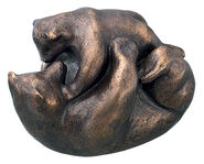 "Sculpture ""Bear Play"" (2009), Bronze"