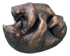 """Skulptur """"Bärenspiel"""" (2009), Bronze"""