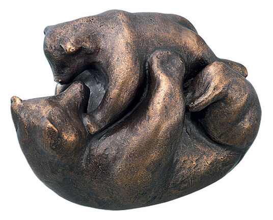 "Mechtild Born: Sculpture ""Bear Play"" (2009), Bronze"