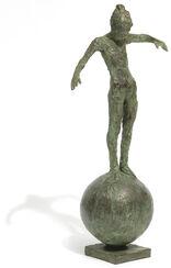 """Skulptur """"Kleine Balance"""" (2016), Bronze"""