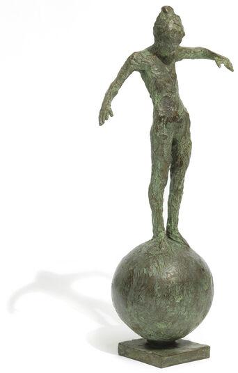 """Thomas Jastram: Skulptur """"Kleine Balance"""" (2016), Bronze"""
