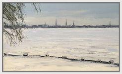 "Bild ""Winterstimmung an der Aussenalster, Hamburg"" (2011) (Unikat)"