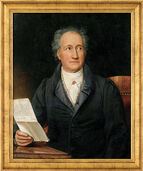 "Painting ""Goethe"" (1828) in a frame"