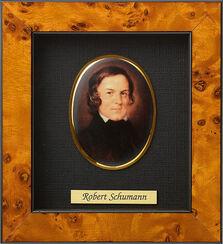 """Miniatur-Porzellanbild """"Robert Schumann"""" (1810-1856), gerahmt"""