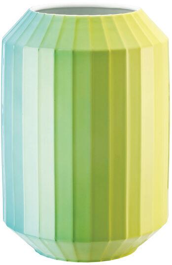 "Christine Rathmann: Porzellanvase ""Hot-Spots - Lime Flush"" (groß, Höhe 28 cm)"
