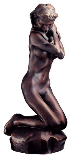 "Auguste Rodin: Sculpture ""Snake Woman"" (Femme au Serpent), art bronze"