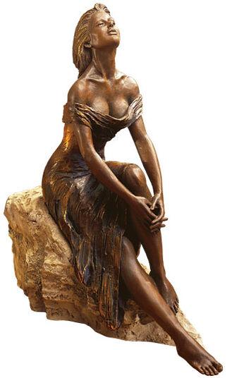 "Manuel Vidal: Sculpture ""Alba"", polymer bronze"