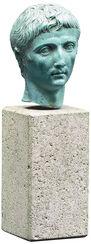 """Portrait Head """"Augustus"""", Artificial Casting"""