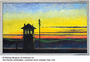 "Painting ""Railroad Sunset"", 1929"